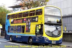 Route 27X, Clare Hall to UCD, (Belfield), Dublin Bus, SG201, October 2017 (Shamrock 105) Tags: dublin dublinbus volvo volvob5tl wrightbus gemini3 clontarfgarage clarehall ucd belfield nassaustreet