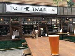 TO THE TRAINS (Matt From London) Tags: pint beer ale trains fulham station markethall bar
