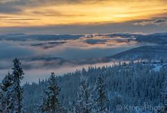 Mountain sunset, Eggedal, Norway (KronaPhoto) Tags: 2019 natur vinter solnedgang clouds skyer mist mountain skog fjell winter snø snow coldseason evening mood sunny visitnorway eggedal norefjell hdr