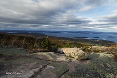 Cruising Into Bar Harbor_27A7762 (Alfred J. Lockwood Photography) Tags: alfredjlockwood nature landscape acadianationalpark cadillacmountain maine autumn afternoon clouds atlanticocean atlanticcoast cruise cruiseship barharbor forest sea rock lichen