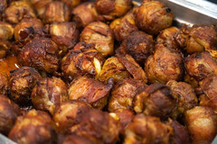"""BBQ'd Productions, INCBacon Bombs – bacon-wrapped pork belly meatball on crostini • <a style=""""font-size:0.8em;"""" href=""""http://www.flickr.com/photos/124225217@N03/33687606868/"""" target=""""_blank"""">View on Flickr</a>"""