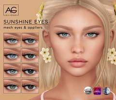 Sunshine Eyes (Avi-Glam) Tags: aviglam ag second life sl mesh eyes omega catwa genus appliers