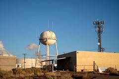 Sputnik lands in Arizona (WayneG58) Tags: roadtrip urbanlandscape topographic afternoonlight arizona page watertank sputnik