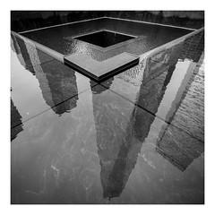 Memorial (Robgreen13) Tags: usa newyorknewyork nyc manhattan 911 memorial fountain groundzero oneworldobservatory wtc freedomtower bw