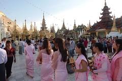 Ordination ceremony for novice Buddhist monks, Shwedagon Pagoda, Yangon (1) (Prof. Mortel) Tags: myanmar burma yangon rangoon buddhist pagoda shwedagon monks