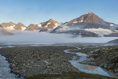 Descent from the Sodalen Gletscher............ (apcmitch) Tags: mountains moraine glaciers rivers fjords greenland eastgreenland2014 extreme dolphin