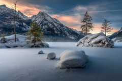 Covered with snow (Croosterpix) Tags: landscape nature snow winter lake mountains bavaria bayern hintersee rocks trees nikon z7 tamron