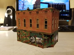 LOCAL BIZ (Set and Centered) Tags: ho scale rix products smalltown usa custom structure local business small model railroad railroading military surplus 187 johns place