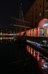 0306  © Kevin A Urquhart  Photography (ElitePhotobox2) Tags: the zebu tall ship albert dock hdr photo linux krita liverpool water reflections night tate gallery