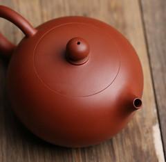 """Chaozhou """"Daoba Xishi"""" Zhuni (Red Mud) Teapot around 90CC (John@Kingtea) Tags: chaozhou daobaxishi zhuni red mud teapot around 90cc"""