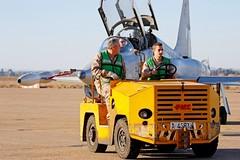 F-5 del Ala 23 (Ejército del Aire Ministerio de Defensa España) Tags: aviación aviation militar military avión aeronave aircraft airplane ejércitodelaire fuerzaaérea airforce airbase baseaérea caza jet fighter mecánico f5 northropf5m freedomfighter ae9