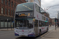 First SN12AKJ (Mike McNiven) Tags: first manchester bolton interchange piccadilly piccadillygardens gardens princessstreet alexanderdennis enviro400 stpeterssquare depot busstation