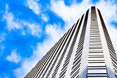 (jfre81) Tags: houston downtown building architecture color blue black white sky cloud lines diagonal vertical geometry james fremont jfre81 photography canon rebel xs