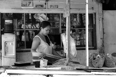 Preparation (Beegee49) Tags: people filipina street black white monochrome bw sony bacolod city philippines asia