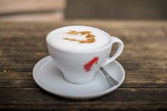 Cappuccino as an exception (mkniebes) Tags: cappuccino cafe drink dof bokeh smcpfa77mmf18