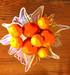Oranges and Ice (garlandcannon) Tags: citrus fruit crystalglacierbowl haiku ourdailychallenge