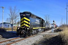 Indiana Northeastern near Monpelier Ohio (Matt Ditton) Tags: indiana northeastern train ohio montpelier shortline