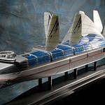 2030年未来のコンテナ船の写真