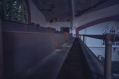 Dusty bench (IAmTheSoundman) Tags: jake barshick sony a99 m42 takumar manualfocus cleveland ohio urbanexploring urbex abandoned