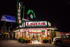 Time to Buy (Thomas Hawk) Tags: america california encinoparkliquor liquorstore losangeles usa unitedstates unitedstatesofamerica clock neon fav10 fav25 fav50 fav100