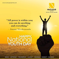"""All power is within you; you can do anything. ""  Wishing all an Inspiring National Youth Day! #NationalYouthDay #LiveLife  #Kerala #Kochi #India #LuxuryHomes #Architecture #Home #Construction #City #Elegant #Building #Beauty #Beautiful #Exquisite #Interi (nucleusproperties) Tags: beautiful life livelife kochi elegant style kerala luxurylife realestate lifestyle india luxury villa nationalyouthday comfort apartment nature architecture luxuryhomes interior gorgeous beauty building exquisite view city construction atmosphere home"