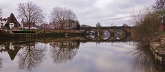 Still water (Sundornvic) Tags: riversevern riverbank river shrewsbury bridge trees tree winter reflection reflected