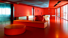 Red Lounge (Dan Guimberteau) Tags: paris france red color colour theater concert music room dxo photolab