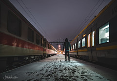 Faceless (Fredrik Lindedal) Tags: central snow tracks light trains winter windows me depthoffield faded city cityview sweden sverige gothenburg göteborg lindedal