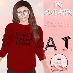 Bri Sweater - Thankful & Blessed - AD (AmaraRevven) Tags: second life tween tweenster kids little princess new fitted mesh unisex boys girls release event boutique explorers
