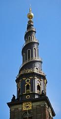 Spiral steeple of a church in Copenhagen, Denmark (albatz) Tags: spiral steeple church copenhagen denmark