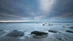 Morning Blues (jillyspoon) Tags: sea coast longexposure leefilters canon canon70d scotland southwestscotland stones smoothstones irishsea wigtownshire dumfriesandgalloway monreith machars