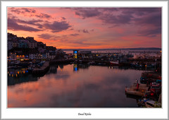 Pink Skies Of Brixham at Sunset (flatfoot471) Tags: 2016 boats bracketed brixham devon dusk england fishing goldenhindreplica harbour holiday july market ships summer sunset twilight unitedkingdom 18125sigma