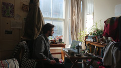 portrait of an artist (SociétéRoyale) Tags: aberystwyth carwyn beach wales man room study windows character darcy ceredigion welsh