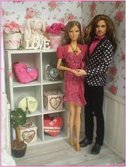 Surprise on Valentine´s Day 6.💕💖💑 (Mary (Mária)) Tags: love valentine´s day diorama doll eiffeltower rose heart hervéléger barbie mattel handmade surprice piratesoffhecaribbean jacksparrow johnnydepp paris bouquet