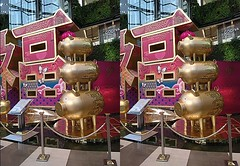 Year of the pig (pinelife) Tags: bangkok thailand 3d stereogram stereo chinesenewyear pig mall shopping holiday