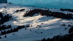 Snow covered hills (Nicola Pezzoli) Tags: italy italia val gardena dolomiti dolomites mountain winter alto adige snow neve nature natura bolzano alpe siusi sunset zoom monte seura pana