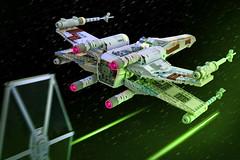 X-Wing vs. Tie (Marshal Banana) Tags: starwars lego xwing tie moc