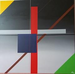 KONSTRUKTION BLAU-BRAUN 2018 (HolgerArt) Tags: konstruktivismus gemälde kunst art acryl painting malerei farben abstrakt modern grafisch konstruktiv
