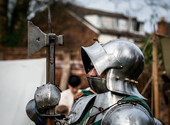 Poleaxe-2 (Andy..D) Tags: commandery d500 worcester worcestercommandery armour sword menatarms manatarms knight poleaxe battle axe portrait medieval chainmail reenactment helmet helm shield
