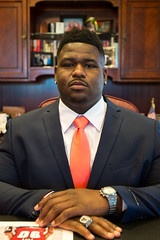 Trevon Sanders honored as Mayor for the Day (North Charleston) Tags: trevonsanders troyuniversity garrettacademy athlete mayorfortheday graduate nflprospect footballplayer noseguard northcharleston southcarolina cityhall mayorsoffice