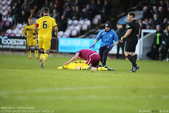 Arbroath 0 - 2 Raith Rovers - (Scotsman_in_Hawaii) Tags: gayfield raithrovers arbroath theredlichties smokiesandwine 360 scottishfootball spfl1 arbroathfc canon5dmarkiii canon5dmark3 saturday22nddecember2018 canon1dxmarkii