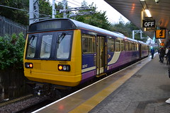 Northern Pacer 142051 (Will Swain) Tags: station 20th september 2018 greater manchester city centre north west train trains rail railway railways transport travel uk britain vehicle vehicles england english europe salford crescent northern pacer 142051 class 142 051 51