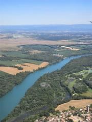 Rhône River from the air near Lyon Airport, France (Paul McClure DC) Tags: lyon france july2017 scenery fromtheair aerial rhône river isère ain auvergnerhônealpes