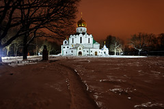 New Year's Eve Cathedral (fedoseenko) Tags: санктпетербург россия красота colour beauty blissful loveliness beautiful saintpetersburg art dazzling light russia park peace white небо color sky pretty view heaven mood serene golden gold palace дворец colours picture architecture building history tsar d800 outdoors night ночь orthodox church cathedral cupola domes door feodorovsky gate religion snow frost freeze frosty снег места святыни собор field holy shrines walkway trees winter 1735mmf28d святые