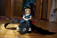 How To Train Your Dragon 09 (Mista-Oro) Tags: toy howtotrainyourdragon dragon dreamworks toothless fairyland ltf littlefee chiwoo bjd doll