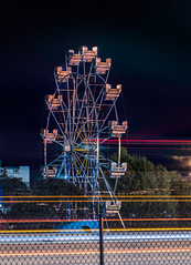 dormant eagle (pbo31) Tags: bayarea california nikon d810 color night dark april 2019 boury pbo31 lightstream motion traffic roadway spinning fair carnival butler amusements laney college 880 traveling rides oakland eastbay alamedacounty