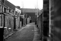 Working Class (joshdgeorge7) Tags: side street nantwich class alleyway back alley pentax lx black white the latent image shrewsbury processing kodak eastman double x film analogue vintage