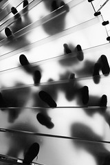 Footsteps Above! (captures.in.time) Tags: newyork new york architecture architecturalphotography city urban blackandwhite black white bnw bw nyc bigapple uppereastside lines feet steps apple applestore applestorenyc above urbannyc ngm mgc ngc