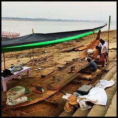 Boat Building (bandarji) Tags: india vacation varanasi boat ganges