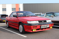 Nissan Sunny ZX Coupe G458BPY (Andrew 2.8i) Tags: haynes museum sparkford classic car cars classics breakfast meet show japanese sports sportscar rz rz1 coupe zx sunny nissan
